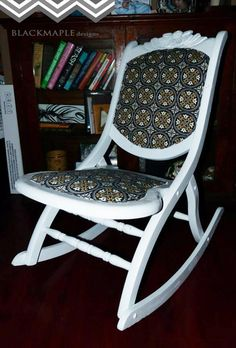 Antique Folding Rocking Chair www.facebook.com/blackmapledesigns