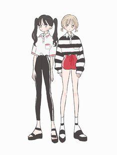 Fashion drawing illustration anime girls new ideas Manga Kawaii, Cute Art Styles, Korean Art, Anime Art Girl, Anime Girls, Character Design Inspiration, Cute Illustration, Illustration Fashion, Aesthetic Art