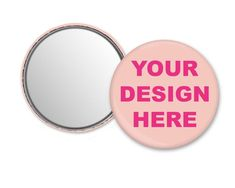 Personalized mirror, compact mirror with your logo photo picture design text, custom pocket mirror,