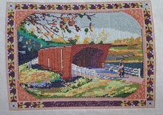 """39 curtidas, 3 comentários - Ju Giddens Cross Stitch (@ju_xstitch) no Instagram: """"Roseman Covered Bridge. Cenário de um dos meus filmes favorito, As Pontes de Madison. #crossstitch…"""""""
