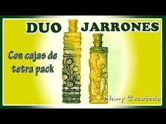DUO DE JARRONES CON TETRA PACK - YouTube