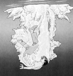 Tropic of the Sea : Satoshi Kon Comic Drawing, Manga Drawing, Manga Art, Anime Art, Drawing Reference Poses, Drawing Poses, Bd Cool, Explosion Drawing, Art Sketches