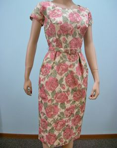 Vintage 60s Dress & Jacket / Pink Green Floral by ClubVintage, $99.00