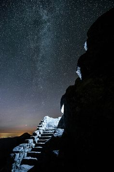 Stairway to Milky Way (Sharp Top) - Virginia, USA  #Space #Stars #OuterSpace