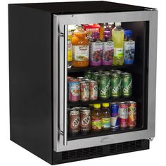 "Marvel MA24BC1R 24"" Wide 18-Bottle and 95-Can Built-In Energy Star Rated Beverag Stainless Steel Frame Glass Door Refrigerators Beverage Center"