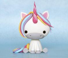 Air Dry Clay Tutorials: Cute Critter Week ~ Rainbow Unicorn Tutorial