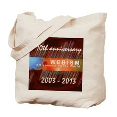 Webism 10th Anniversary Tote Bag on CafePress.com 10 Anniversary, Medium Bags, Canvas Tote Bags, Bag Making, Inspirational Quotes, Shopping Bags, Gifts, Design, Fashion