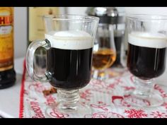 How to make Irish coffee with kahlua and coconut cream - https://www.barmasters.com/videos/make-irish-coffee-kahlua-coconut-cream/ #barmasters