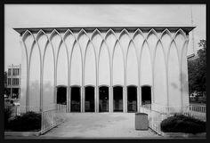 DeRoy Auditorium at Wayne State university, Detroit, MI by Minoru Yamasaki (1965)