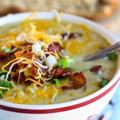Cheesy Green Chile and Potato Chowder Recipe Soups with poblano peppers, yellow onion, green bell pepper, russet potatoes, celery, bacon, minced garlic, chicken broth, salt, milk, flour, Mexican cheese blend, sliced green onions