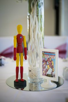 Superhero Wedding Photography - Reception - Iron man - Centerpiece