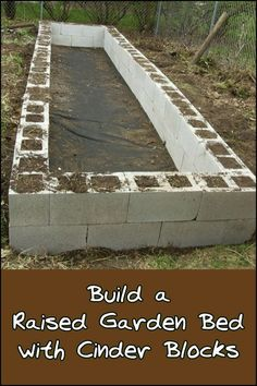 You can make a simple raised garden bed to grow your own produce by using cinder blocks! Need one in your backyard?