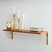 Mid-Century Shelving + Starburst Bracket Set