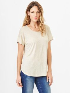 Fluid shirttail tee Product Image