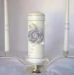 Unity Candle Set -repinned from Los Angeles County, CA marriage officiant https://OfficiantGuy.com #weddingofficiant #losangelesweddings
