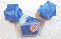 """#Jabonartesanal Jabón aromático artesanal - Marmolado Azul. El aroma escogido es la fragacia a #Lavanda y Algas marinas. Jabón aromático, Jabón artesanal, Jabón decorativo - Especial como """"Amenities"""" de #Hotel. Precio: 4 euros/unidad"""