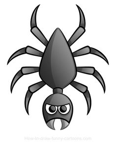 A dark, mysterious cartoon spider is the subject of this new drawing lesson. Are you afraid of spiders?