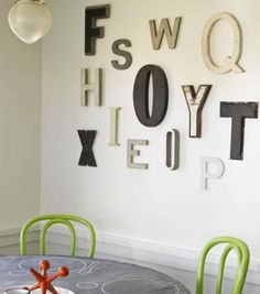 Объёмные буквы и слова интерьере