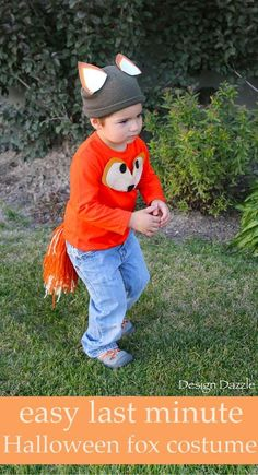 Best Diy Crafts Ideas For Your Home : Easy last minute Halloween fox costume. No-sew and quick!   DIY kids halloween c
