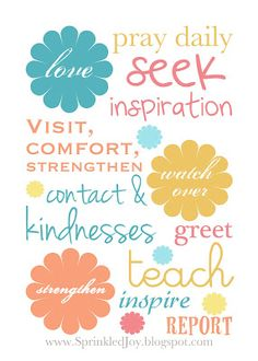 ....and Spiritually Speaking: April 2012 Visiting Teaching Message - Love, Watch Over & Strength
