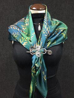 Fern Garden - Hand Painted Silk Scarf