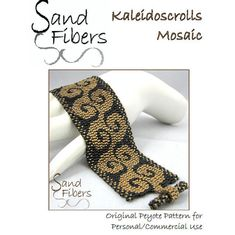 Peyote Pattern  Kaleidoscrolls Mosaic Peyote Cuff / by SandFibers, $10.00