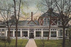 Lamar Bath House antique postcard, Hot Springs National Park Arkansas
