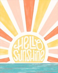 Photo Wall Collage, Picture Wall, Parking Spot Painting, Sunshine Quotes, Large Art Prints, Aesthetic Painting, Retro Wallpaper, Kawaii Wallpaper, Hello Sunshine