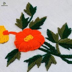 Hand Embroidery Flower Designs, Beaded Flowers Patterns, Hand Embroidery Videos, Bead Embroidery Patterns, Hand Embroidery Tutorial, Creative Embroidery, Hand Embroidery Stitches, Embroidery Patches, Embroidery Techniques