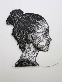 Wire portrait that resembles me