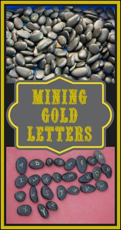 Life with Moore Babies: Poppin's Book Nook - Wild West - Mining for Gold Letters