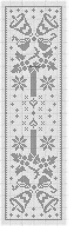 Crochet Patterns Filet, Crochet Tablecloth Pattern, Christmas Crochet Patterns, Crochet Doilies, Crochet Stitches, Xmas Cross Stitch, Cross Stitch Flowers, Crochet Cross, Crochet Home