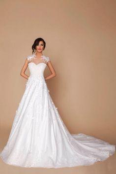 Prachtige trouwjurk met kant prinsessen bruidsjurk op maat