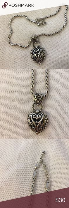 Gorgeous Brighton heart necklace Beautiful Brighton necklace! Like new! Brighton Jewelry Necklaces