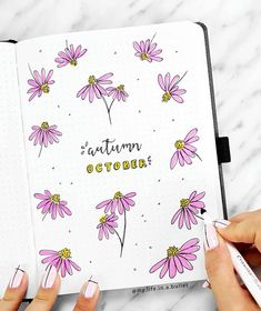 Absolutely gorgeous floral bullet journal cover by talented ig@my.life.in.a.bullet.