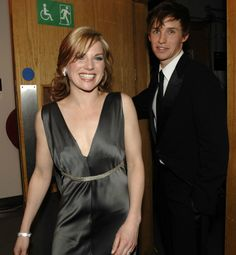Addicted to Eddie — Eva Birthistle and Eddie Redmayne backstage at The Orange British Academy Film Awards (BAFTAs) at the Royal Opera House on February 11, 2007 in London...