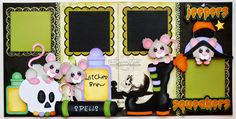 BLJ Graves Studio: Halloween Mice Scrapbook Pages