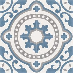 Articima cement tiles 5010 - The pattern is inspired by Art Nouveau and gives your room a unique and stylish atmosphere. Belle Epoque, Decoration, Interior Inspiration, Color Patterns, Art Nouveau, Decorative Plates, Texture, Mirror, Design