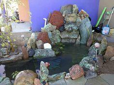 Koi Pond... Southwestern College, Garden Design, House Design, Koi Ponds, Historical Images, Garden Crafts, Art Therapy, Ranch, Aquarium
