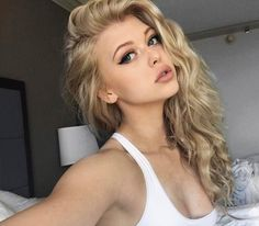 YouTuber and model, Loren Gray Beech's Instagram selfie posted in April 2017...