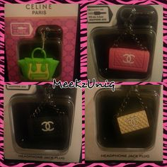 -Chanel Dust Plug -Brand New Item  -Universal 3.5 mm earphones anti-dust ear cap  - Accessorize your cell phone and make it Shine  - Prevent dust and debris from blocking your device headset port  - Put this item into earphone jack when the earphone is not in use  - Great for laptop, CD pla...