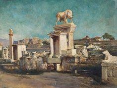 Alexander Barkoff (1870-1942), Kerameikos of Athens, Oil, 1930s