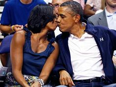 President Obama and First Lady Michelle Obama Caught By Kiss Cam | Barack Obama, Michelle Obama
