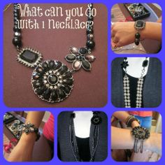What can you make with a necklace ?  One necklace..... many, many ways !!