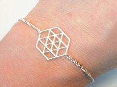 Bracelet fin et graphique en Argent 925