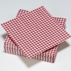 Serviettes vichy carreaux vertes rouge