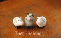 super cute little sheep made of clay