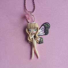 Butterfly Necklace Sagittarius sign in fimo polymer by Artmary2