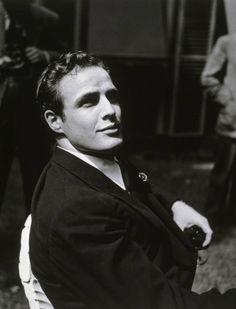Marlon Brando at Hervé Mille's home, photo by Walter Carone, 1949