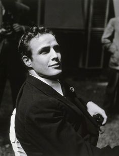 Marlon Brando at Hervé Mille's home, June, 1949. Photographed by Walter Carone